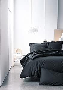 TODAY Funda nordica-240x260cm-Algodón-Color Negro, 100% algodón: Amazon.es: Hogar