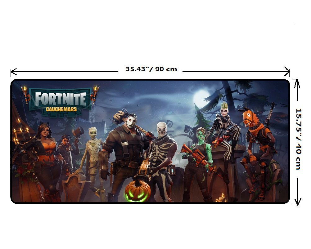 yvetel fortnite battle royale gaming mousepad large long soft mouse mats halloween 35 43 15 75 amazon co uk office products - fortnite mouse going off screen