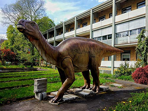Home Comforts Peel-n-Stick Poster of Figure Dino Dinosaur Meadow Casting Statue Vivid Imagery Poster 24 x 16 Adhesive Sticker Poster Print