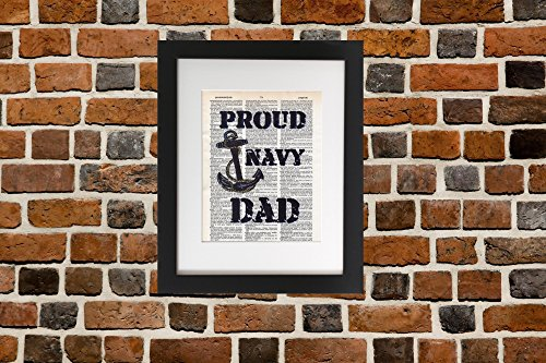 Proud Navy Dad - Upcycled