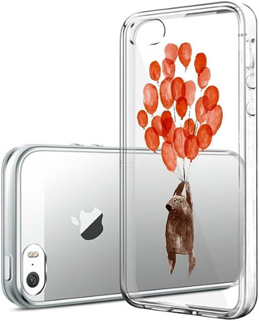 Coque iPhone 5S 5 SE Cristal Clair Transparent Ultra mince fin ...
