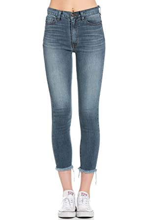 6af142bd658a3a O2 Denim Women's High Waisted Denim Skinny Ankle Cut Jeans Pants PS1105 at Amazon  Women's Jeans store