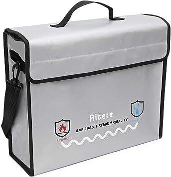 Aitere - Funda para Documentos ignífuga y Resistente al Fuego ...