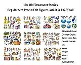 10 Old Testament Bible Stories Precut Felt Figures for Flannel Board Noah, David, Daniel, Job, Jonah, Joseph, Abraham, Ruth Esther, Moses Creation