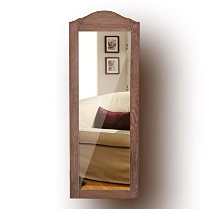 Charmant Giantex Jewelry Armoire Cabinet Wall Mounted With Mirror Rustic Full Length  Mirrored Storage Organizer Multiple Shelves