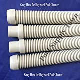 """4 Pk Pool Cleaner Hose Replacement for Hayward Pool Clearner- 40"""", Gray Color"""
