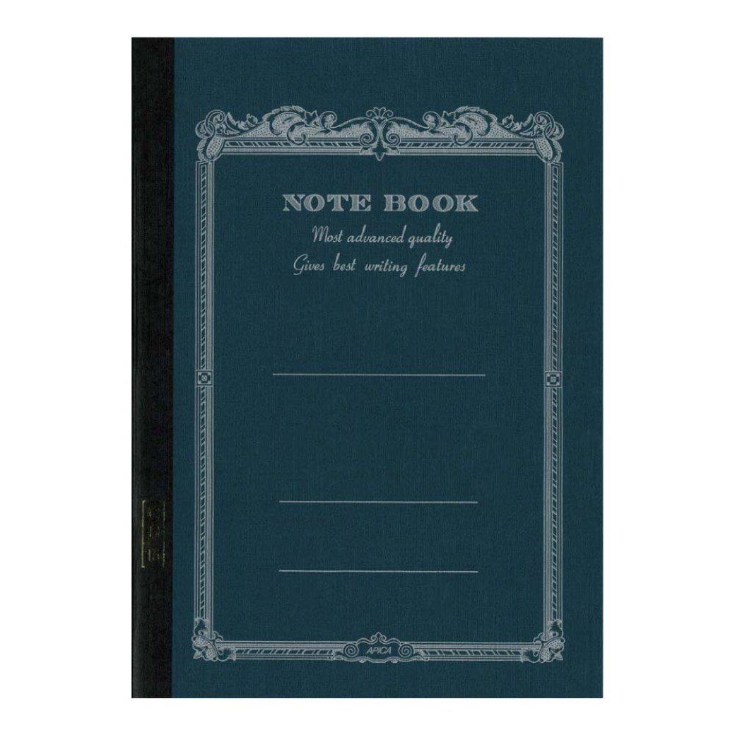APICA Carnet CD15NV - Bleu PETROLE - Grand Format 17,9 x 25,2cm - 68 Pages Lignées - Papier 90g idéal Stylo-Plumes - Fabriqué au Japon 2cm - 68 Pages Lignées - Papier 90g idéal Stylo-Plumes - Fabriqué au Japon CD15-NV