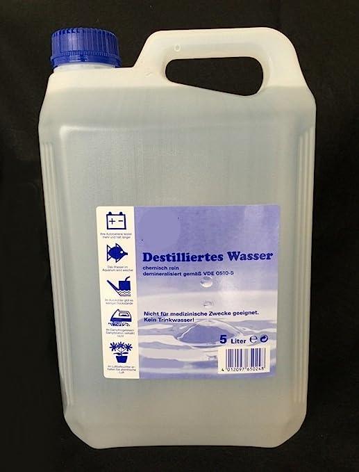 30 L de agua destilada 6 x 5 litros: Amazon.es: Industria, empresas y ciencia