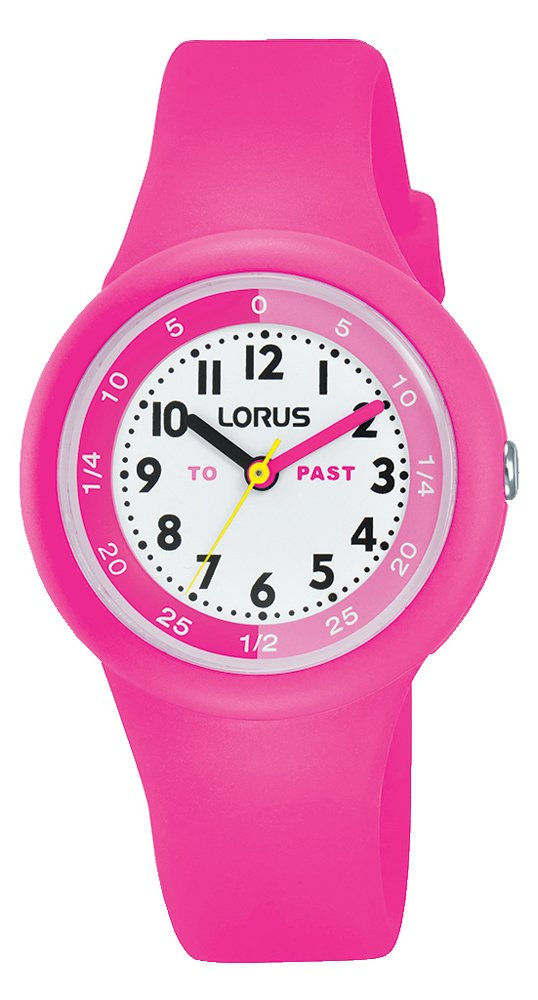 Lorus Kids Pink Time Teacher Style Silicone Watch RRX99EX9 …