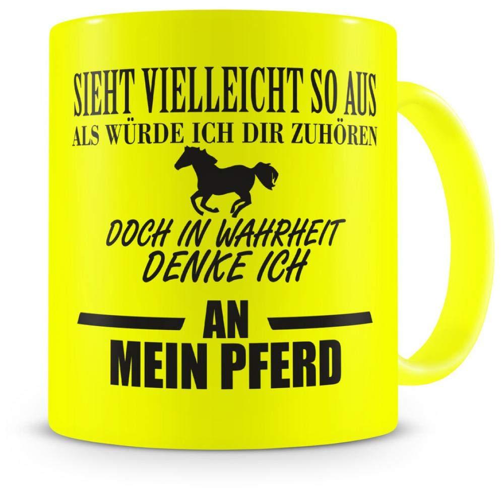 Samunshi Ich denke an mein Pferd Tasse  2 Farben H:95mm D:82mm