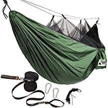 Adventure Gear Outfitter Camping Hammock with Mosquito Net and FREE Tree Straps. Lightweight Perfect for Backpacking and Hiking - Includes Everything You Need for EASY SET UP.