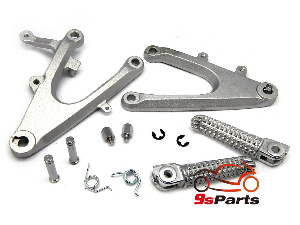 9sparts OEM Replacement Passenger Front Foot Rest Pegs Bracket Rearsets for 2004 2005 2006 YAMAHA YZF-R1 YZF R1 BLACK