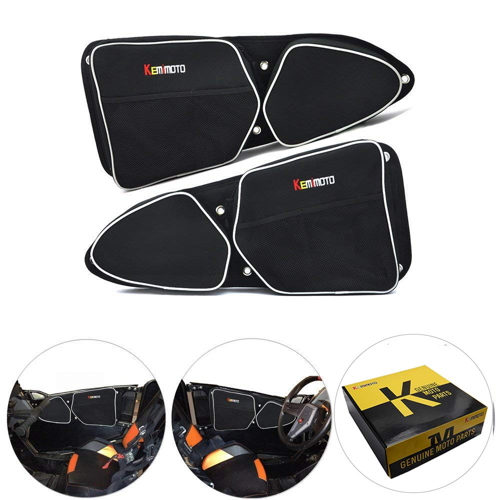 KEMIMOTO RZR 1000 Door Bags Driver and Passenger Side Front Upper Storage Bag with Knee Protection by kemimoto