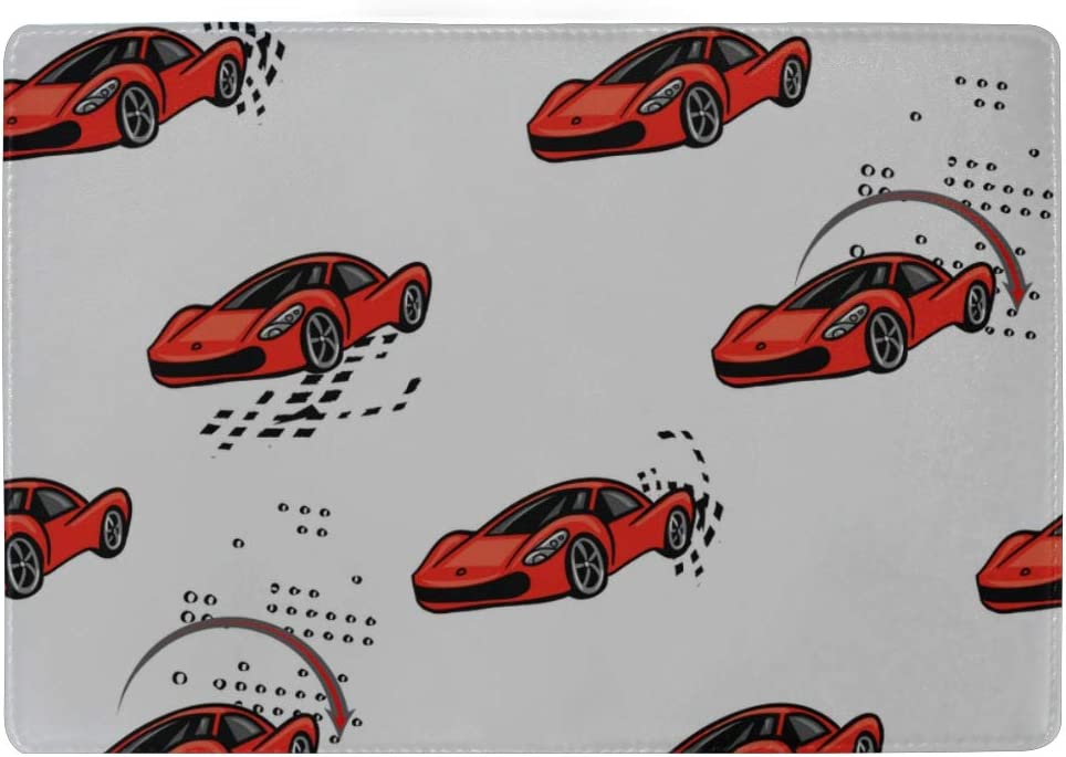 Passport Cover Protector Speed Sport Racing Cars Repeated Stylish Pu Leather Travel Accessories Us Passport Cover For Women Men