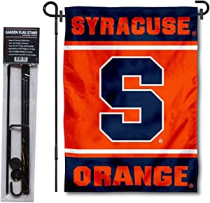 College Flags & Banners Co. Syracuse Orange Garden Flag and Flag Stand Pole Holder Set