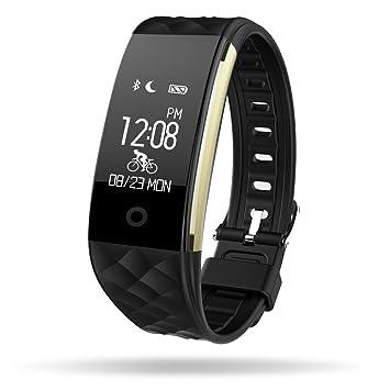 Fitness Tracker reloj pulsómetro, mlvoc S2 Bluetooth 4.0 impermeable ...