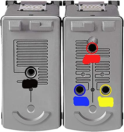 GYBN Printer Refill Ink cartridges for Canon 40 41 Printer with Inkjet Cartridge can Refill MP145 140 160 170 180 198 210 IP1180 1200 1600 1800 1880 JX201 510P-color
