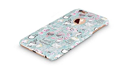 best service 3a298 792e4 Cover Affair Girlie/Girly Printed Designer Slim Light Weight Round Logo  Back Cover Case Compatible with Apple iPhone 6 (Blue) (G3-D134)