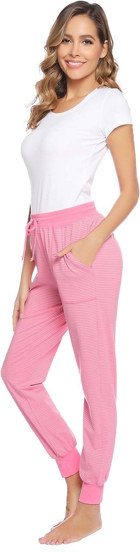 Aibrou Pigiama Pantaloni da Donna in Cotone per Corsa Sport Yoga Casa