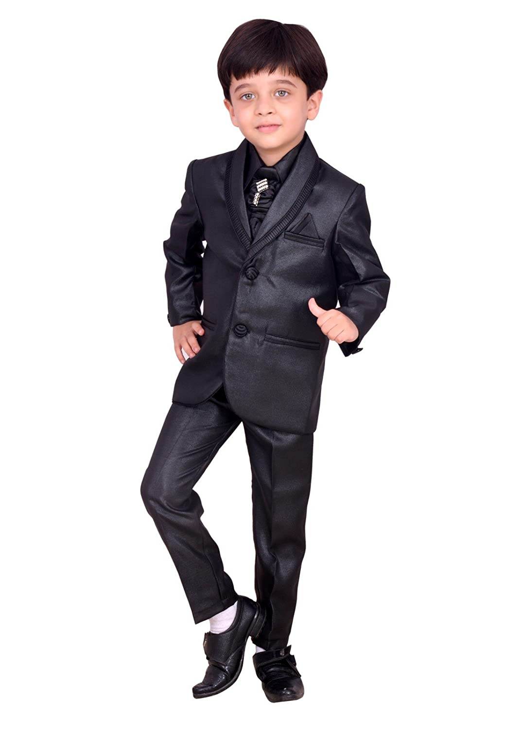 5d577246d Arshia Fashions Boys Coat Suit with Shirt Pant and Tie Kids Wear ...