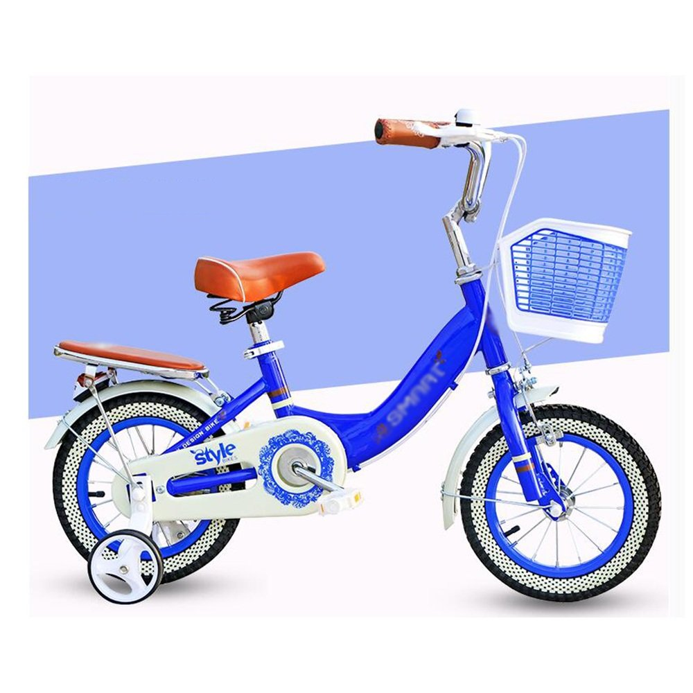HAIZHEN マウンテンバイク 子供用自転車 青赤 サイズ:12インチ、14インチ、16インチ アウトドアアウト 新生児 B07C6WQCNT 16 inch|青 青 16 inch