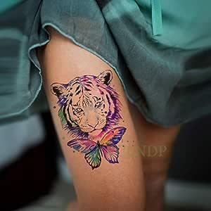 ljmljm 5pcs Impermeable engomada del Tatuaje del león Corona de la ...