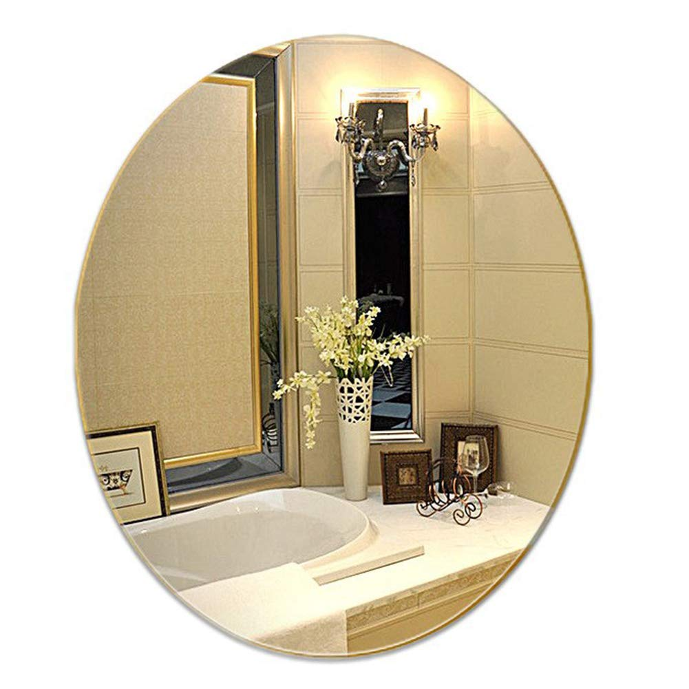 Amazon Com Yanzhen Mirror Wall Mounted Frameless Punch Free Ultra