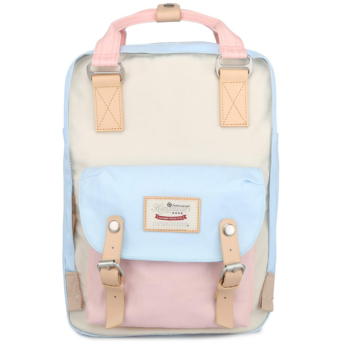 Himawari School Waterproof Backpack 15 Inch College Vintage Travel Bag for Women, 14 Inch Laptop Compartment for Student (HM-38#) by himawari