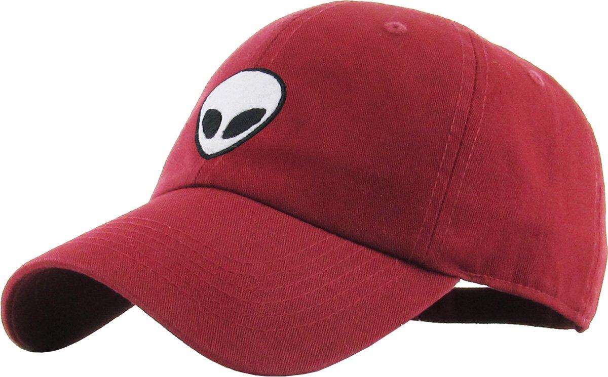 9e775938059 KBSV-028 BUR Alien Dad Hat Baseball Cap Polo Style Adjustable Burgundy   Amazon.ca  Sports   Outdoors