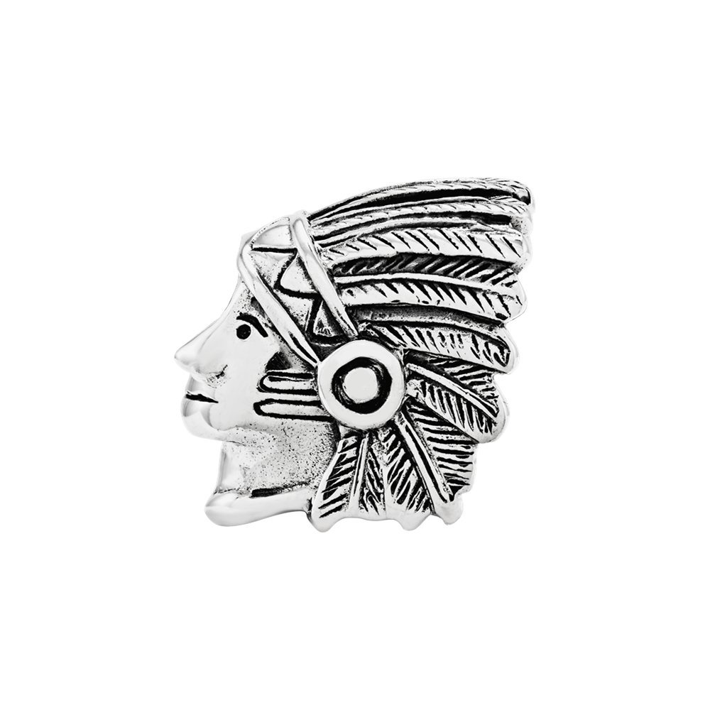 Solid 925 Sterling Silver Reflections Chief Bead 10.9mm x 10.9mm