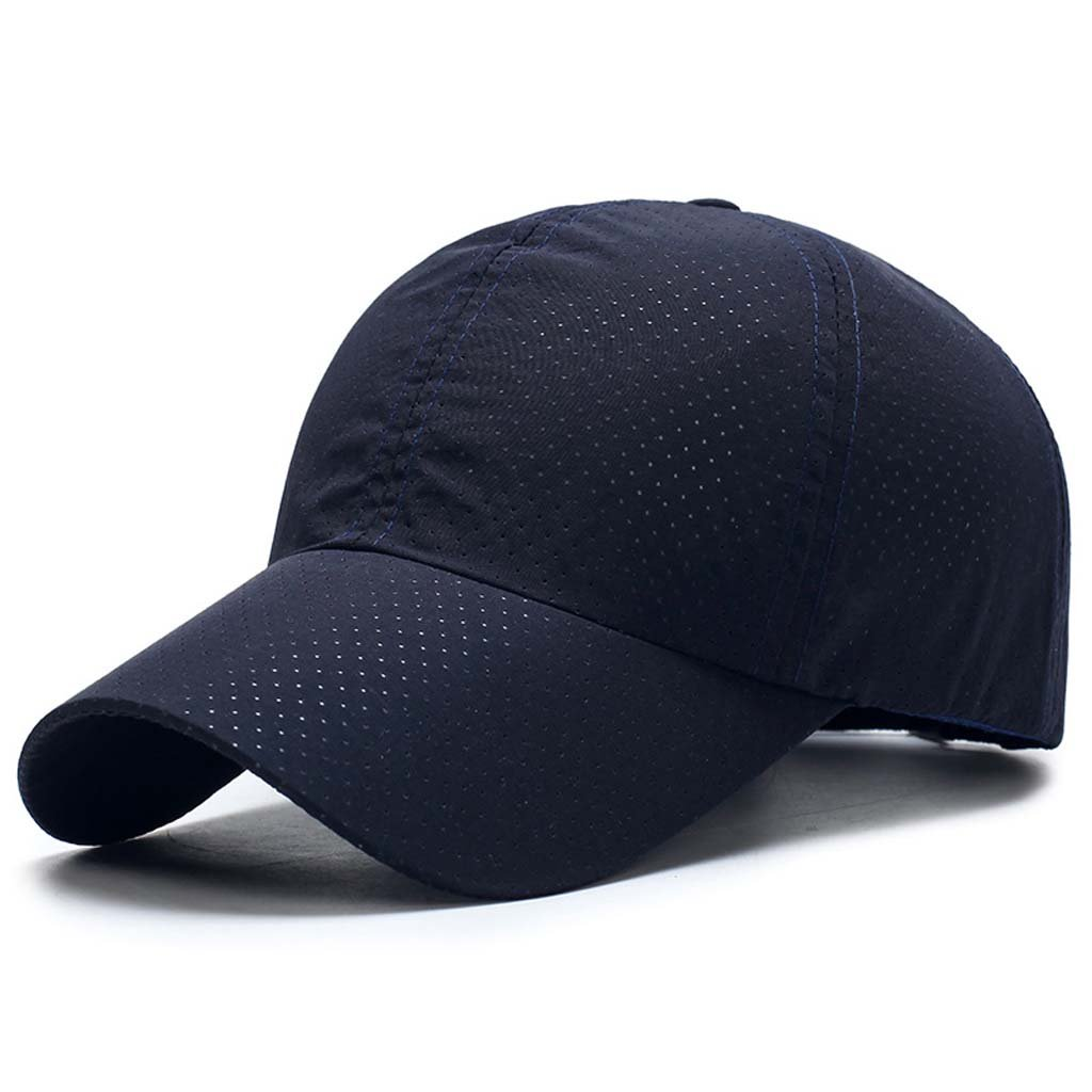 TACVASEN Ultra Thin Quick Dry Baseball Cap UV Outdoor Sports Hat with Adjustable Buckle TAC-SGGB-22-Black