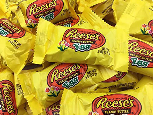 Reese's Peanut Butter Cup Eggs Easter Candy, Snack Size .6 O