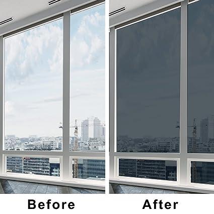 tinted window screen coavas energy saving heat control one way privacy anti uv tinted window solar film home office amazoncom
