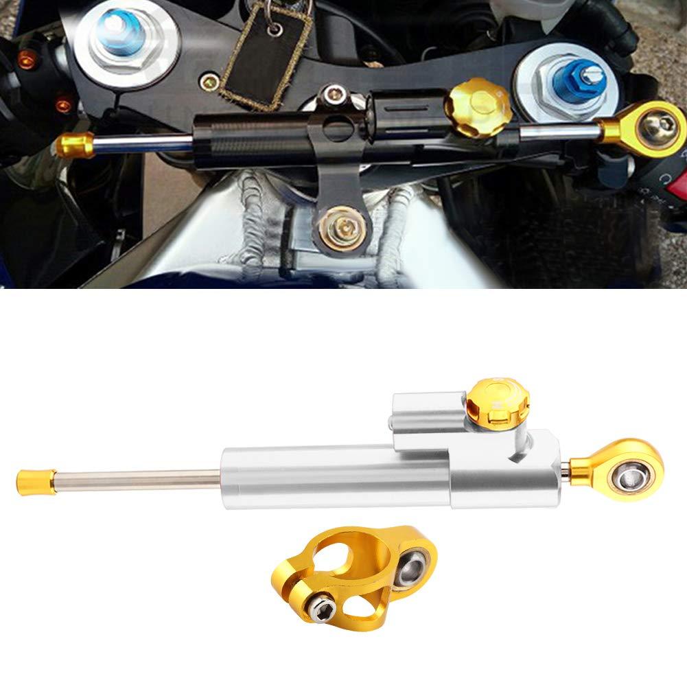 Azul Dibiao Control Universal de Seguridad Del Estabilizador Del Amortiguador de Direcci/ón de Aleaci/ón de Aluminio Del Manillar de La Motocicleta