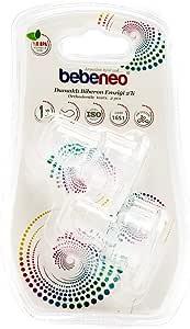 بيبينيو حلمة رضاعة سيليكون  عدد 2 قطعة بالعبوة نظام هوائي ضد المغص،  شفاف