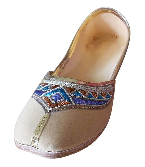 Kalra Creations Damen Traditionelle indische Samt mit Stickerei Casual  Schuhe: Amazon.de: Schuhe & Handtaschen