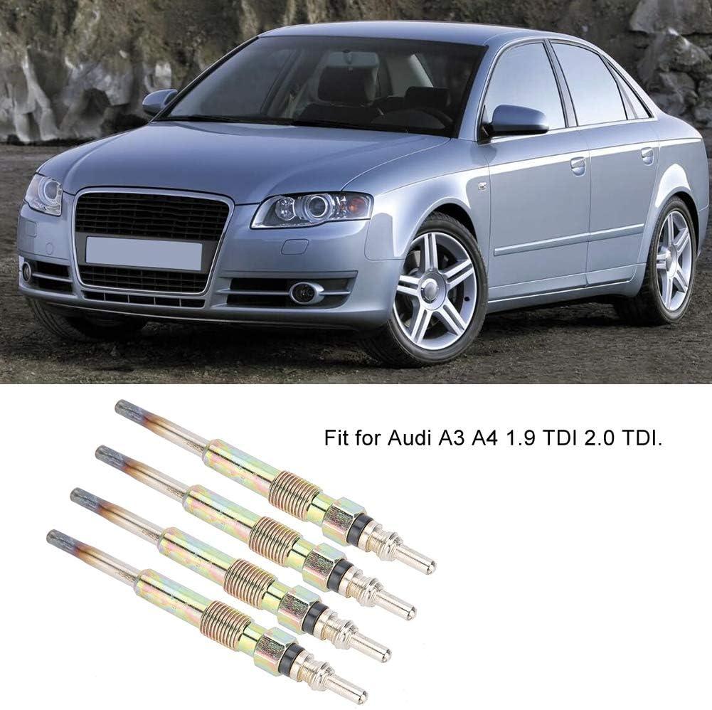 Steel 4Pcs//Set Diesel Heater Glow Plugs Spark Plugs Fit For A3 A4 1.9 TDI 2.0 TDI KIMISS Diesel Glow Plugs