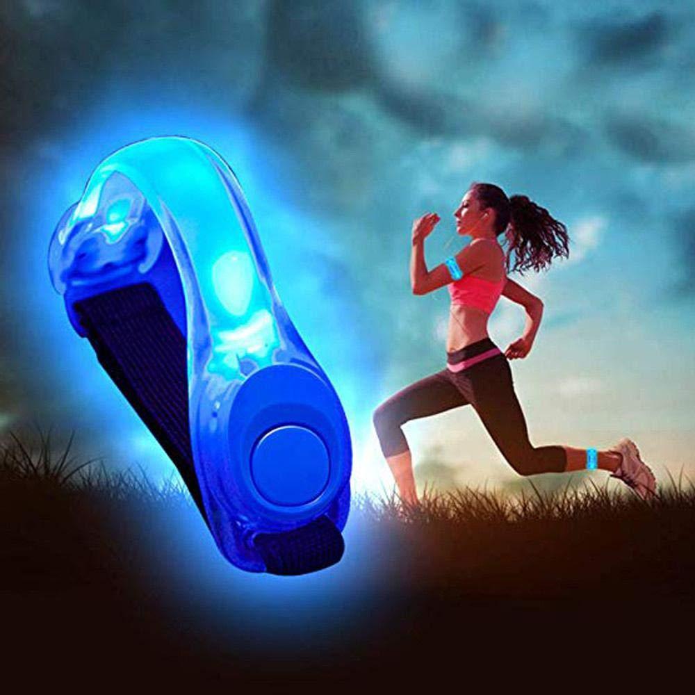 Goglor LED-Armband mit LED-Licht, sehr hell, hohe Sichtbarkeit, beleuchtetes LED-Armband mit verstellbarem Riemen, Sicherheitsbeleuchtung, Sport-Armband, reflektierende Streifen für Outdoor-Übungen und Aktivitäten