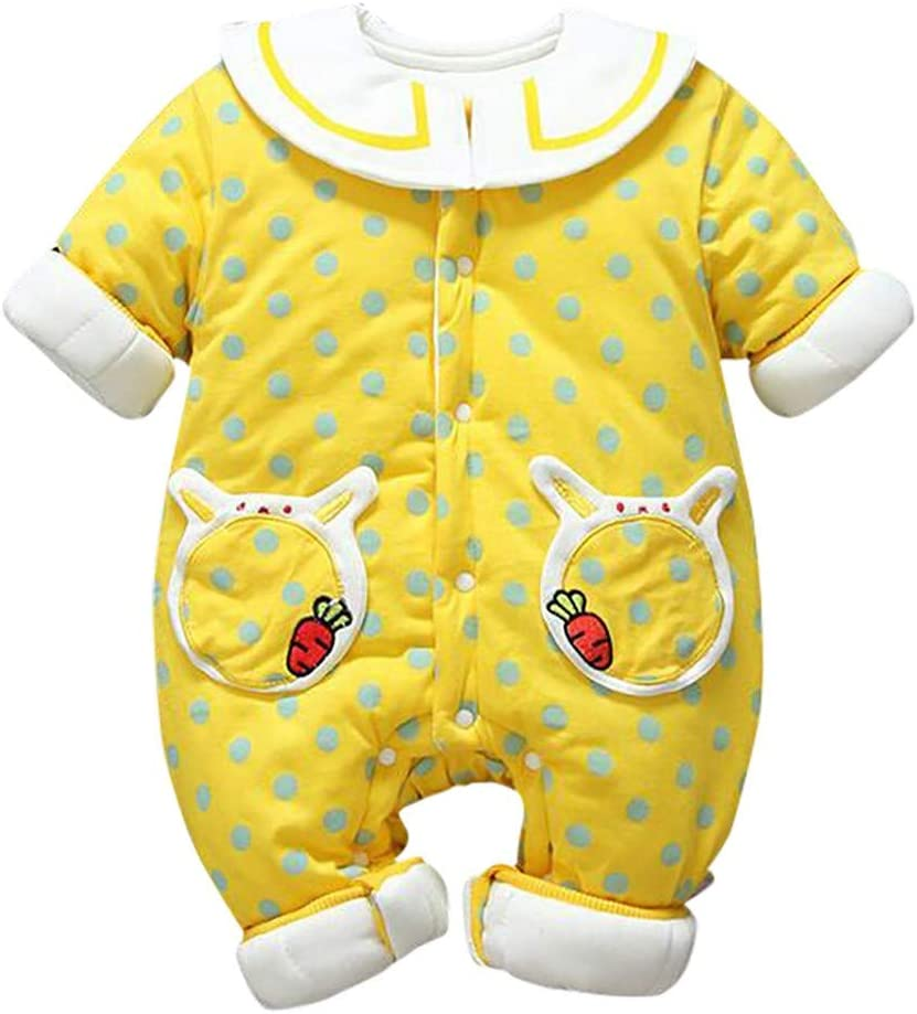 Euone Sales!!! Baby Clothes Newborn Toddler Baby Girls Polka Dot Romper Jumpsuit Thickened Outfits Clothes Valentine's Day Easter, Holiday Gift, Buy Now 61L7lEItVGL