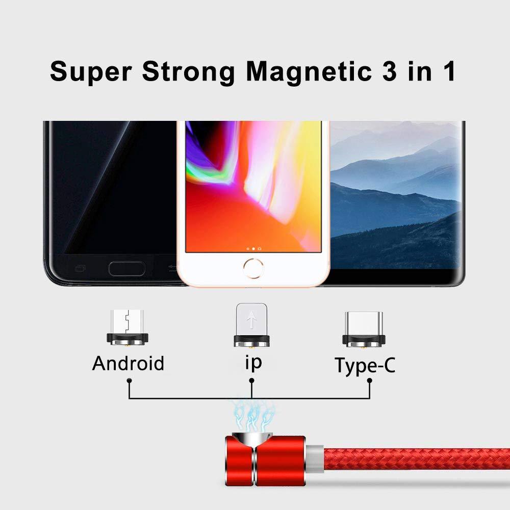 Amazon.com: Cable cargador magnético para teléfono, 3 en 1 ...