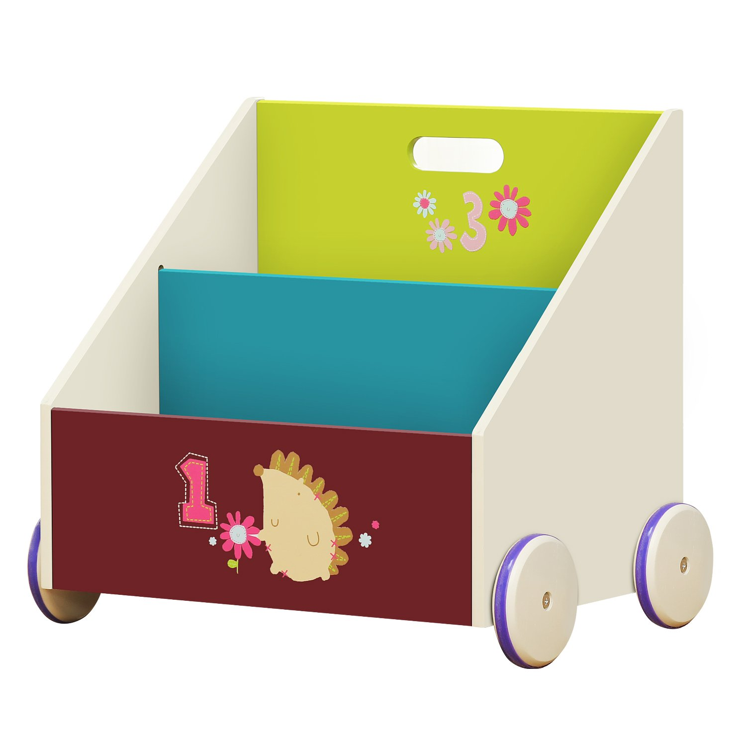 2-in-1 Viola Hedgehog Bookcase for Kid 1-5 Years 2 Tier Bookcase//kid Bookcase Storage//Wood Bookshelf//Strong Bookcase//Open bookshelf labebe Child Bookcase Small Wooden Bookshelf with Wheels