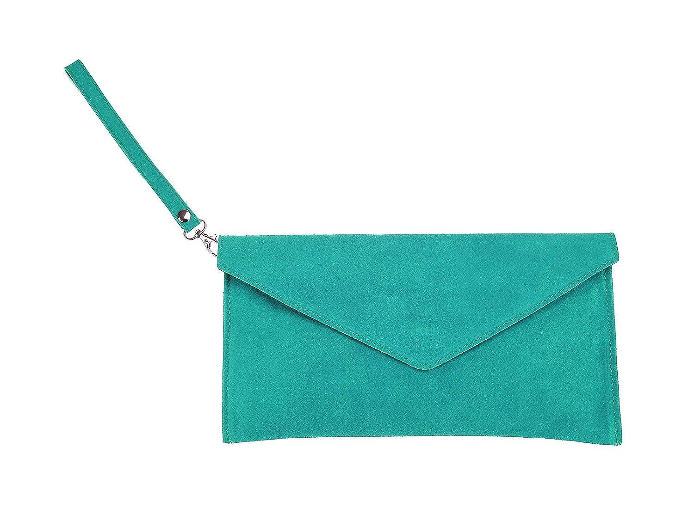 scarlet bag   Umhängetasche aus Wildleder Leder   Damen Handtasche Tasche Henkeltasche; 31,5 x 16,5 x 1,0 cm 0 cm (anthrazit)