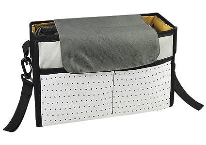 Cochecito Organizador, bolsa de pañales, impermeable, malla portavasos Universal tamaño se ajusta a