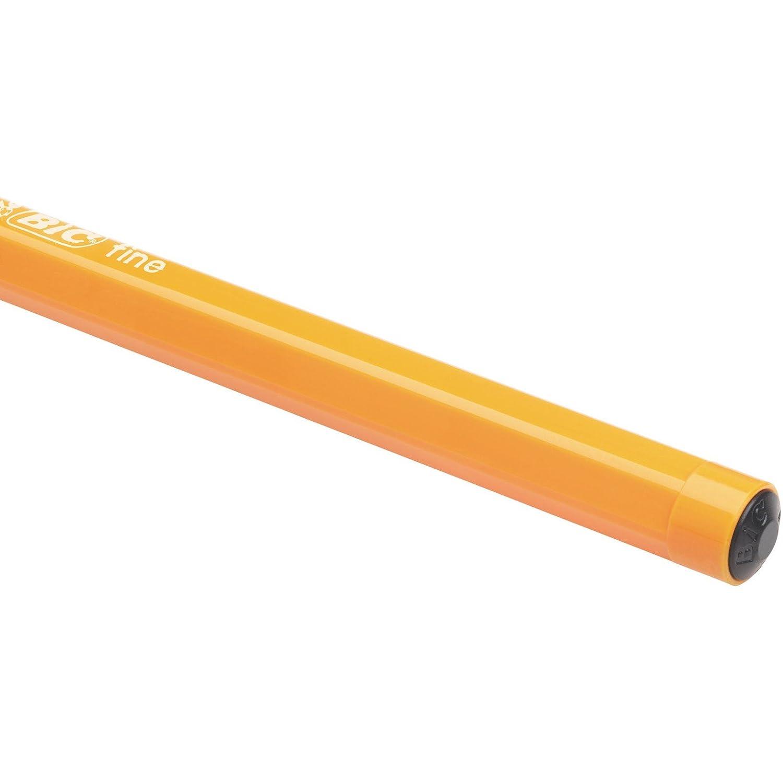 0,8 mm BIC Orange Original Stylos-Bille Pointe Fine - Noir Bo/îte de 20