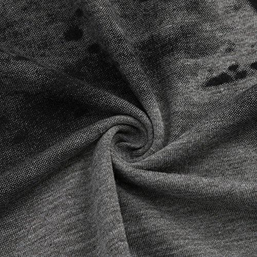 Rond Oversize Encolure Basic Top Tee À Homme Imprimé T Itisme Manches Noël Slim Sweatshirt Décontracté Sweat shirt Noir Longues Mode q Fit Col Shirt 7HUWR