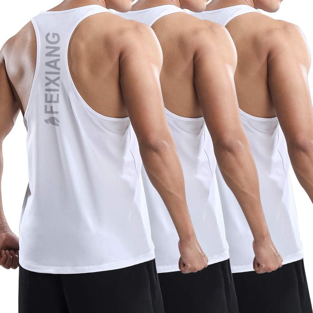 MEETWEE Camiseta de Tirantes Deporte Hombre, Camisetas sin Mangas Secado Rápido Tank Top Camiseta Deportiva para Running Fitness Ejercicio