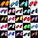 480Pcs Mix 24 Color Stunning French Half False Acrylic Nail Art Tips Gel