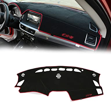 Yeeoy Center Console Cover Dashmat New Leather Dashboard Mat Pad Replacement for Mazda CX-5 2013 2014 2015 2016