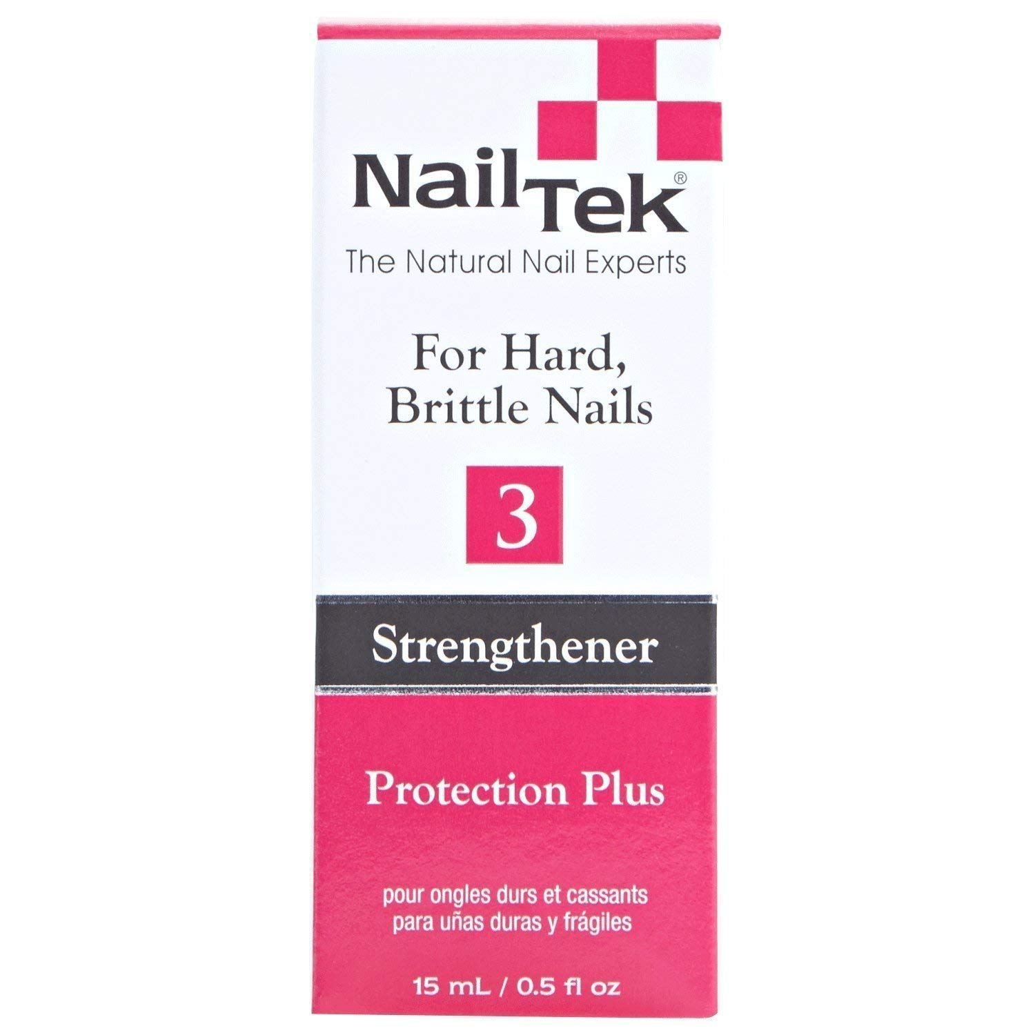 Nailtek Protection Plus III for Dry Brittle Nails, 0.5 Fluid Ounce 804