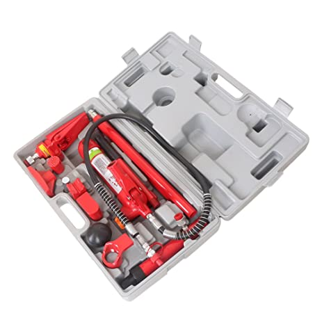 Amazon.com: Timmart 4 Ton Porta Power Hydraulic Jack Body Frame ...